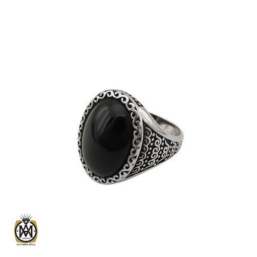 انگشتر عقیق مشکی مردانه - کد 10156 - 1 230 510x510