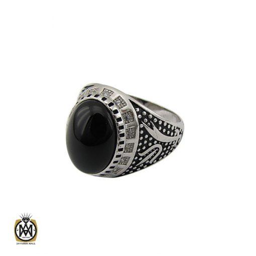 انگشتر عقیق مشکی مردانه - کد 10164 - 1 238 510x510