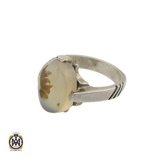 انگشتر عقیق شجر مردانه خوش نقش - کد 10101 - 1 39 510x510