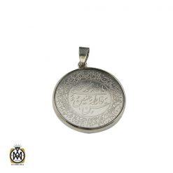 مدال نقره اسپرت دو رو با حکاکی الله، پنج تن، وان یکاد و الله نور السماوات و العرض- کد 3192 - 1 74 247x247