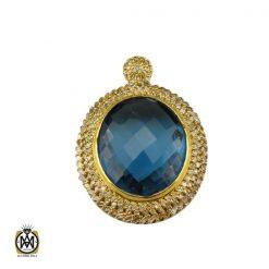 مدال الماس اصل و عقیق یمن طرح پانیذ زنانه - کد 3339 - 1 76 247x247