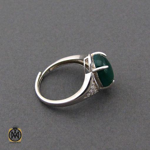 انگشتر عقیق سبز زنانه خوش رنگ طرح سبا - کد 2117 - 2 142 510x510