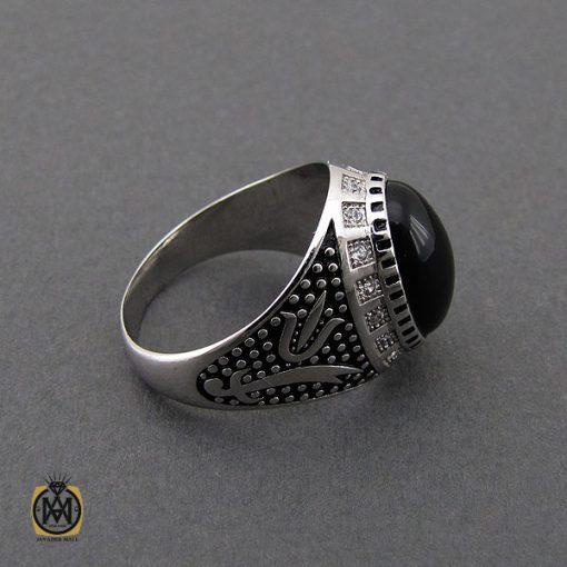 انگشتر عقیق مشکی مردانه - کد 10164 - 2 238 510x510