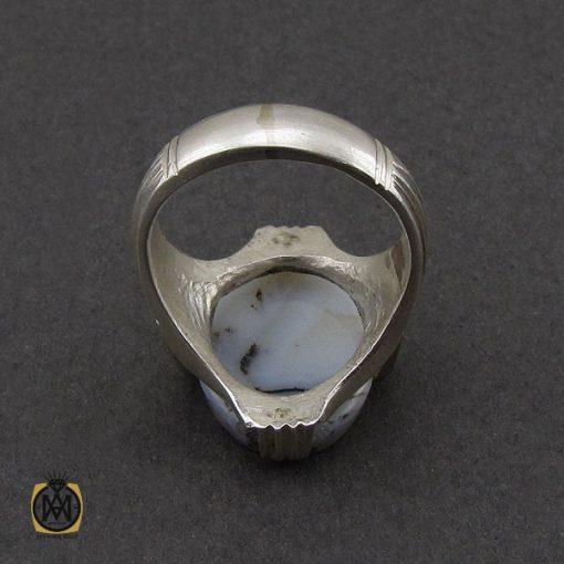 انگشتر عقیق شجر مردانه خوش نقش - کد 10112