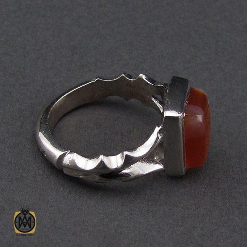 انگشتر عقیق یمن با حکاکی یا علی (ع) مردانه دست ساز - کد 10132 - 3 101 510x510