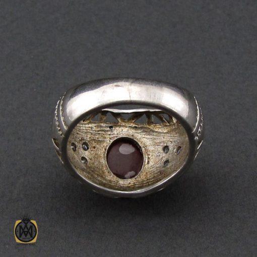 انگشتر عقیق یمن خوش رنگ مردانه - کد 10141 - 3 110 510x510