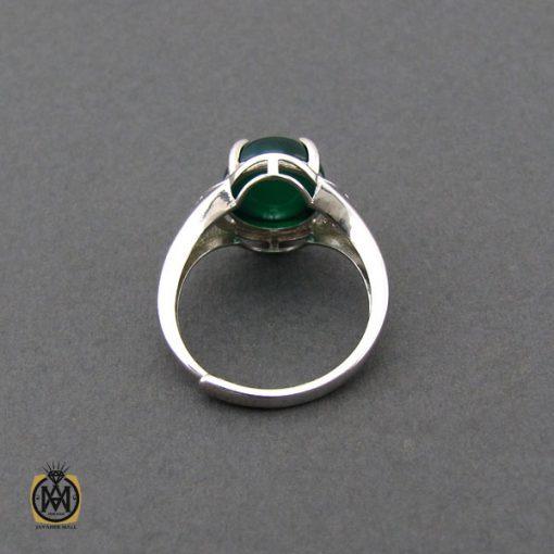 انگشتر عقیق سبز زنانه خوش رنگ طرح سبا - کد 2117 - 3 145 510x510
