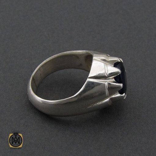 انگشتر یاقوت کبود مردانه مرغوب دست ساز - کد 10182 - 3 283 510x510