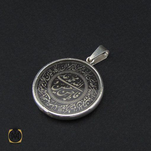 مدال نقره اسپرت دو رو با حکاکی الله، پنج تن، وان یکاد و آیت الکرسی- کد ۳۱۹۱