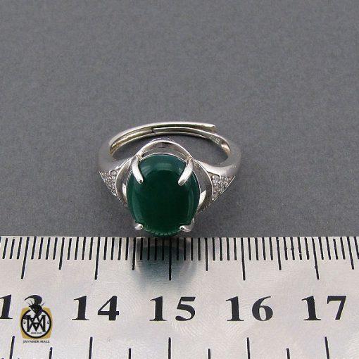 انگشتر عقیق سبز زنانه خوش رنگ طرح سبا - کد 2117 - 4 143 510x510