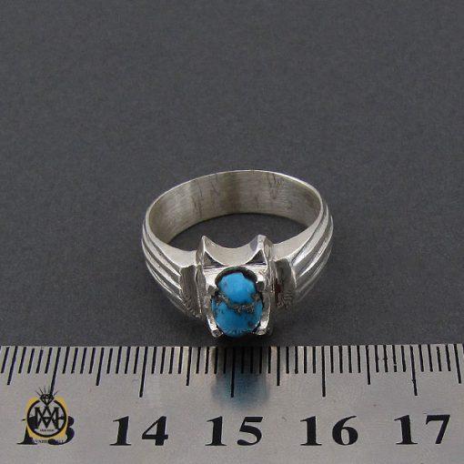 انگشتر فیروزه نیشابوری مردانه  - کد 10173 - 4 271 510x510