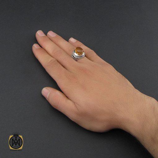 انگشتر عقیق یمن با حکاکی شرف الشمس مردانه - کد 10149 - 5 104 510x510