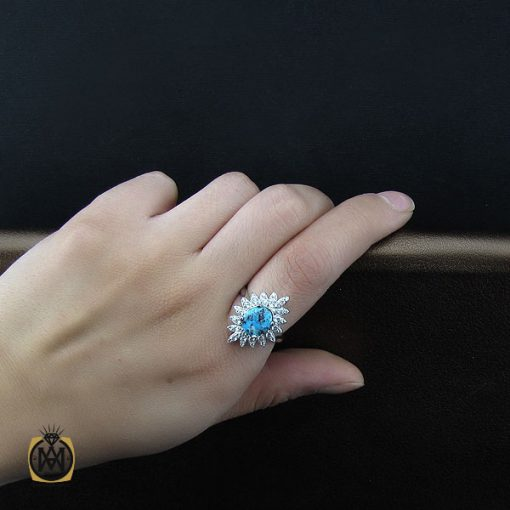 انگشتر فیروزه نیشابور طرح سونیا زنانه - کد 2120
