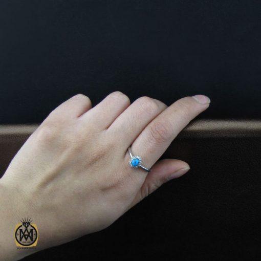 انگشتر فیروزه نیشابور طرح شاپرک زنانه - کد 2121 - 5 135 510x510