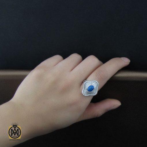 انگشتر فیروزه طرح شمیم زنانه - کد 2124