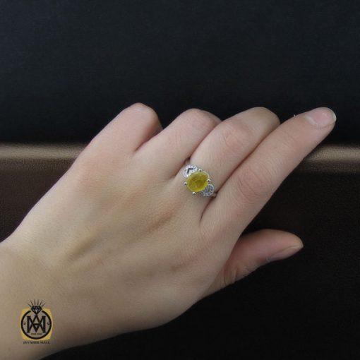 انگشتر یاقوت زرد طرح آیدا زنانه – کد ۲۱۳۷