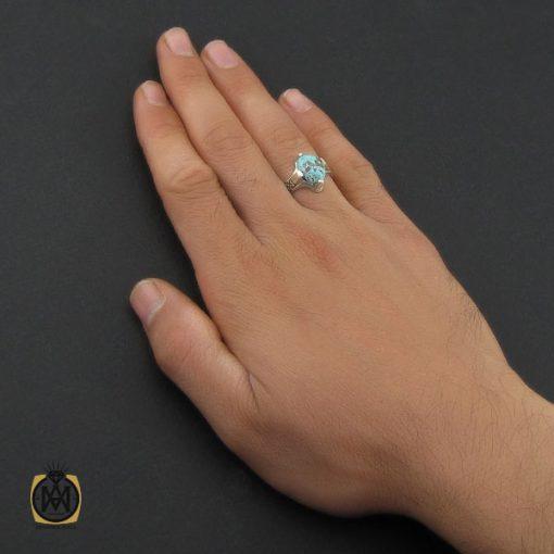 انگشتر فیروزه نیشابوری مردانه  – کد ۱۰۱۷۶