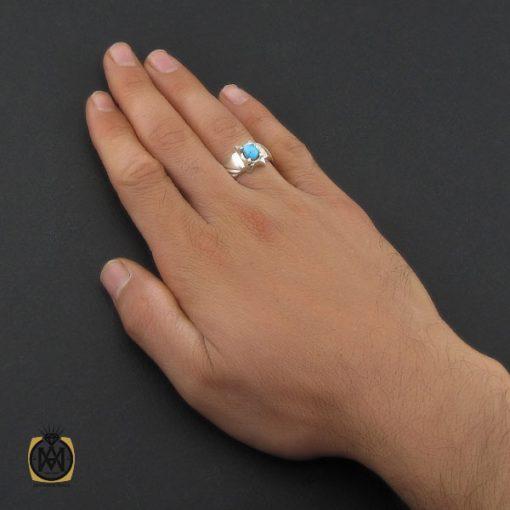 انگشتر فیروزه نیشابوری مردانه  - کد 10177 - 5 249 510x510