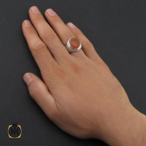 انگشتر عقیق یمن با حکاکی شرف الشمس استاد ضابطی مردانه – کد ۱۰۱۸۵