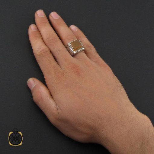 انگشتر عقیق یمن با حکاکی هفت شرف استاد ضابطی مردانه دست ساز - کد 10193 - 5 265 510x510