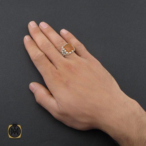انگشتر عقیق یمن مردانه دست ساز - کد 10074 - 5 35 510x510