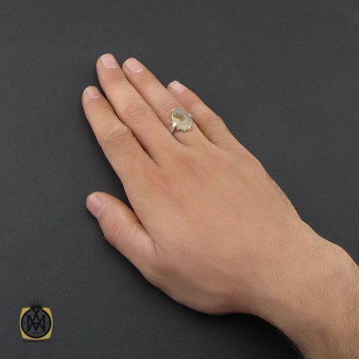 انگشتر عقیق شجر مردانه خوش نقش - کد 10101 - 5 39 510x510