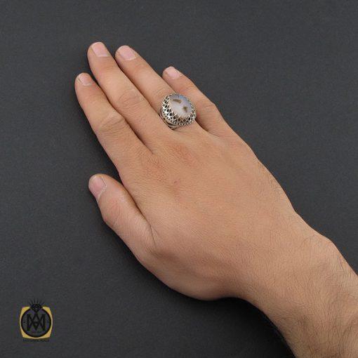 انگشتر عقیق شجر مردانه خوش نقش - کد 10104