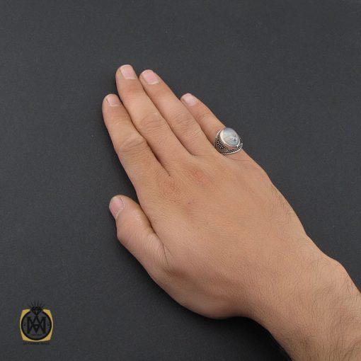 انگشتر عقیق شجر مردانه خوش نقش - کد 10105