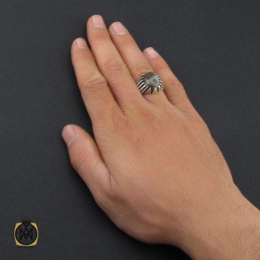 انگشتر عقیق شجر مردانه خوش نقش - کد 10109 - 5 47 510x510