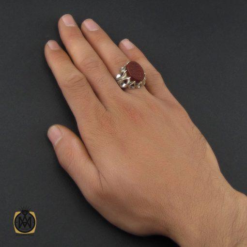 انگشتر عقیق یمن با حکاکی الحمد الله الحنان و المنان استاد حیدر مردانه - کد 10127