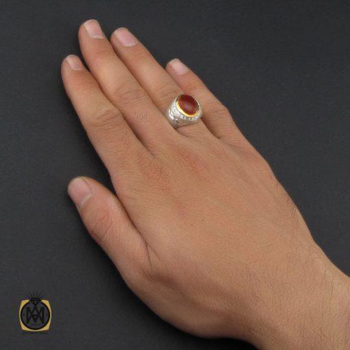 انگشتر عقیق یمن مردانه هنر دست استاد یزدانی- کد 10133 - 5 89 510x510