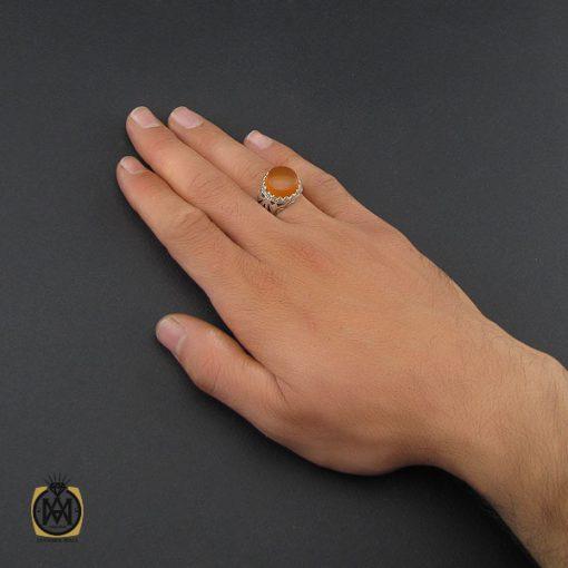 انگشتر عقیق یمن مردانه - کد 10136 - 5 92 510x510