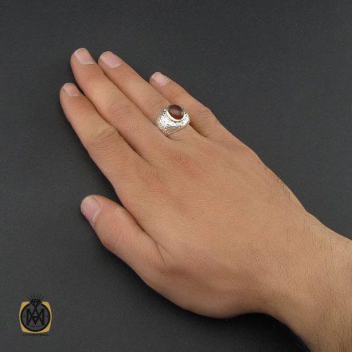 انگشتر عقیق یمن خوش رنگ مردانه - کد 10142 - 5 98 510x510