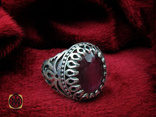انگشتر یاقوت سرخ خوش رنگ مردانه - کد 10211 - 00 13 510x383