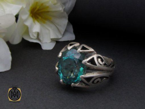 انگشتر توپاز سبز مردانه - کد 10328 - 00 175 510x383