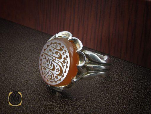 انگشتر عقیق یمن با حکاکی یا فارس الحجاز مردانه – کد ۱۰۲۱۹