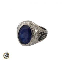 انگشتر یاقوت کبود خوش رنگ مردانه - کد 10333 - 1 108 247x247