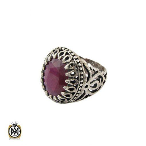انگشتر یاقوت سرخ خوش رنگ مردانه - کد 10211 - 1 12 510x510