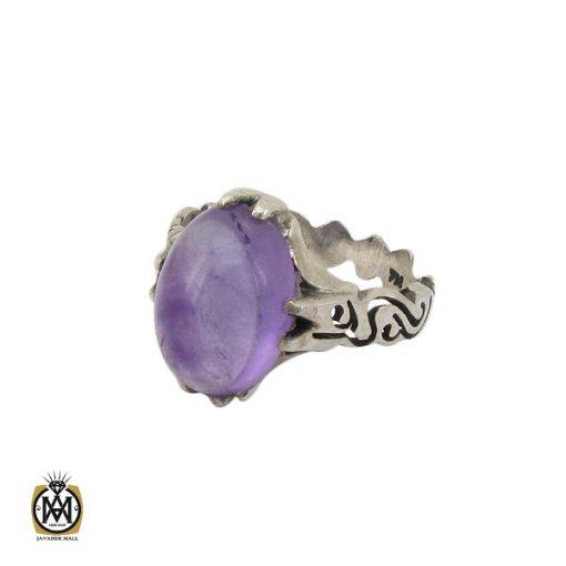انگشتر آمتیست خوش رنگ مردانه - کد 10302 - 1 126 510x510