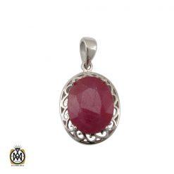 مدال یاقوت سرخ زنانه طرح دریتا - کد 3082 - 1 145 247x247