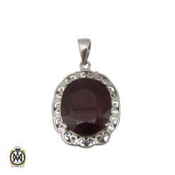 مدال یاقوت سرخ زنانه طرح دریتا - کد 3082 - 1 148 247x247