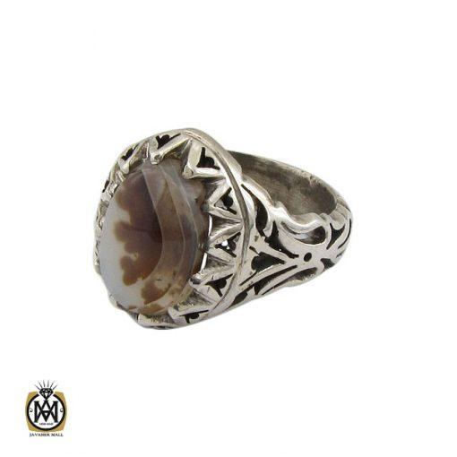 انگشتر عقیق شجر مردانه دست ساز - کد 10326 - 1 172 510x510