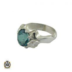 انگشتر توپاز سبز مردانه - کد 10417 - 1 250 247x247
