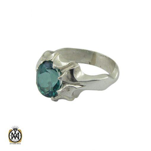 انگشتر توپاز سبز مردانه - کد 10390 - 1 250 510x510