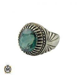 انگشتر توپاز سبز مردانه خوش رنگ - کد 8737 - 1 251 247x247