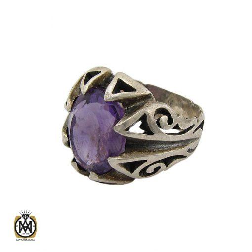 انگشتر آمتیست خوش رنگ مردانه - کد 10401 - 1 271 510x510