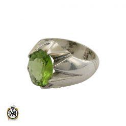 انگشتر زبرجد خوش رنگ مردانه  - کد 10406