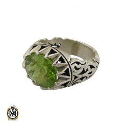 انگشتر نقره مردانه با نگین زبرجد - کد 8180