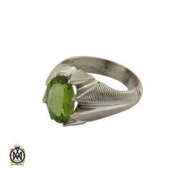 انگشتر نقره مردانه با نگین زبرجد - کد 8180 - 1 275 247x247