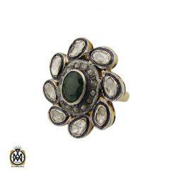 انگشتر الماس اصل و زمرد طرح نوشاد زنانه - کد 2184 - 1 303 247x247